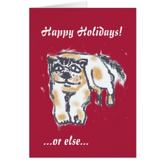 Grumpy Dog Holiday Card