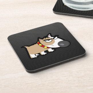 Grumpy Dog on Sleek Beverage Coaster