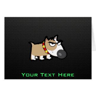 Grumpy Dog on Sleek Card