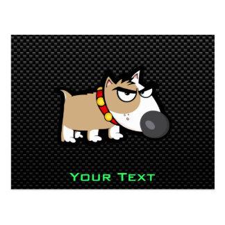 Grumpy Dog on Sleek Postcard