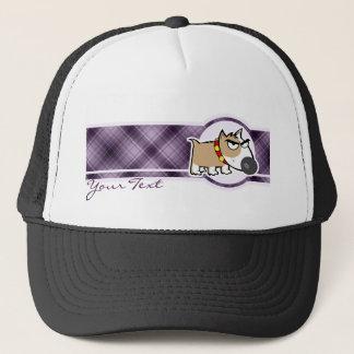 Grumpy Dog; Purple Trucker Hat