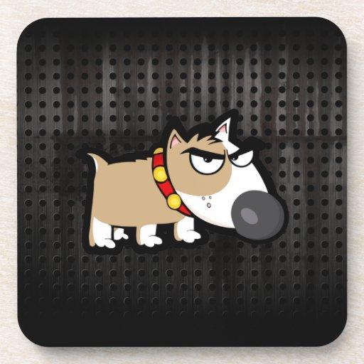 Grumpy Dog; Rugged Drink Coaster