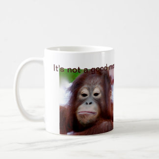 Grumpy Face Coffee Drinker Classic White Coffee Mug