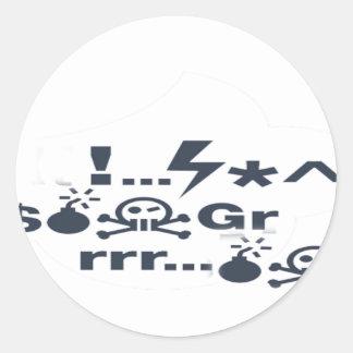 Grumpy Face, Grrrrrrrr products Classic Round Sticker