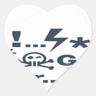 Grumpy Face, Grrrrrrrr products Heart Sticker