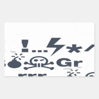 Grumpy Face, Grrrrrrrr products Rectangular Sticker