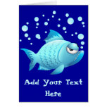 Grumpy Fish Cartoon Cards