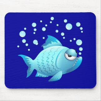 Grumpy Fish Cartoon Mouse Pad