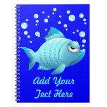 Grumpy Fish Cartoon Note Books