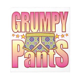 Grumpy Flowery Pants Memo Notepad