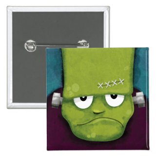 Grumpy Frankenstein | Halloween Novelty Pinback Button
