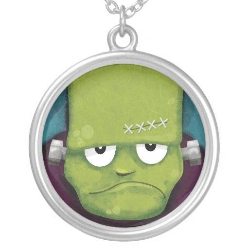 Grumpy Frankenstein Halloween Pendant
