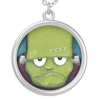 Grumpy Frankenstein Halloween Pendant necklace