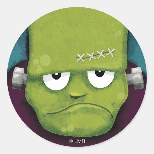 Grumpy Frankenstein Halloween Stickers