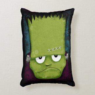 Grumpy Frankenstein's Monster Halloween Accent Pillow