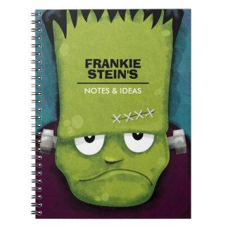 Grumpy Frankenstein's Monster Personalized Spiral Notebooks