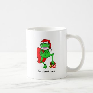 Grumpy Frog Dressed As Santa Claus Classic White Coffee Mug