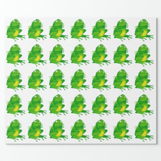 GRUMPY FROG Wrapping Paper