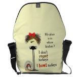 Grumpy gal bowls courier bag