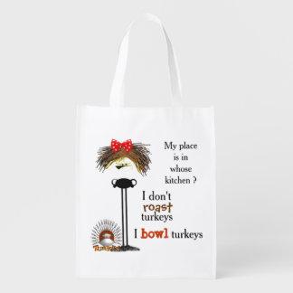 Grumpy gal bowls grocery bag