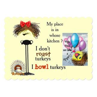 Grumpy gal bowls 5x7 paper invitation card