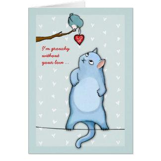 Grumpy George green Grouchy Valentine's Card