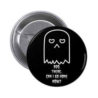Grumpy Ghost Halloween Button