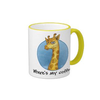 Grumpy Giraffe Ringer Coffee Mug