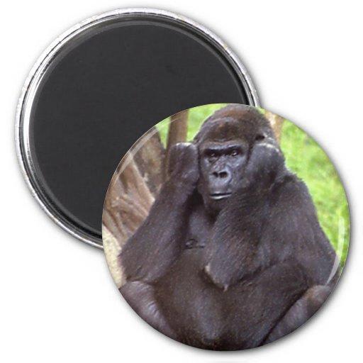 Grumpy Gorilla 2 Inch Round Magnet