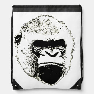 Grumpy Gorilla Drawstring Backpack