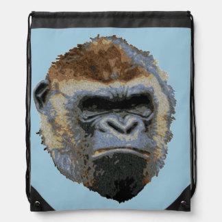 Grumpy Gorilla Drawstring Bag