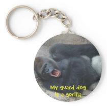 Grumpy Gorilla Keychain