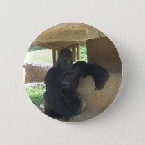 Grumpy Gorilla Pinback Button