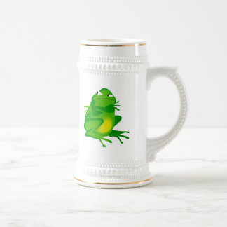 Grumpy green Frog 18 Oz Beer Stein