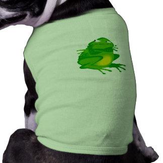 Grumpy green Frog Pet T Shirt