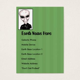 Grumpy Grey Alien Chubby Profile Card
