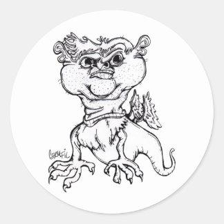 Grumpy Griffin Classic Round Sticker