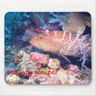grumpy grouper mouse pad