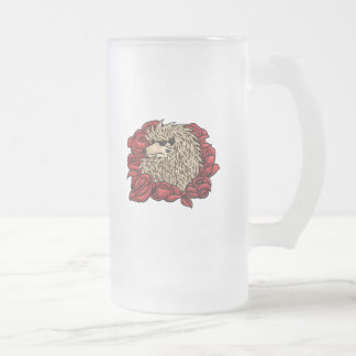 Grumpy Hedgehog Frosted Mug
