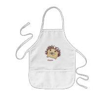 Grumpy Hedgehog Paint Smock! Kids' Apron