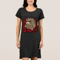 Grumpy Hedgehog T-Shirt Dress