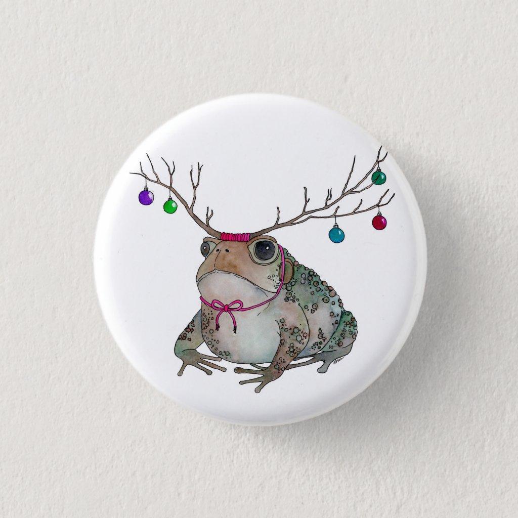 Grumpy Holiday Toad Pin