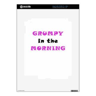 Grumpy In the Morning Skin For The iPad 2