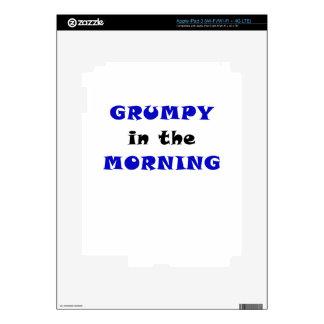 Grumpy in the Morning iPad 3 Skin