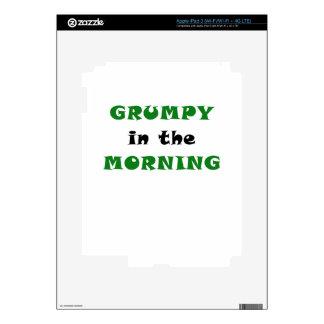 Grumpy In the Morning iPad 3 Decal