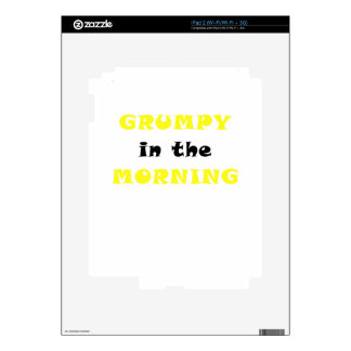 Grumpy In the Morning iPad 2 Decals