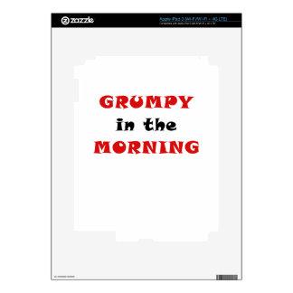 Grumpy in the Morning Skin For iPad 3