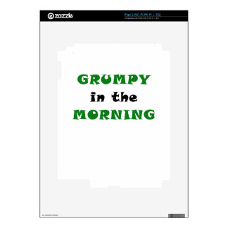 Grumpy In the Morning Decals For iPad 2