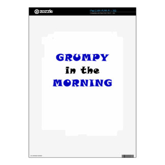 Grumpy in the Morning Decals For The iPad 2