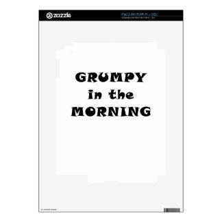 Grumpy in the Morning Decal For iPad 2